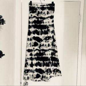 Black White & Gray Maxi Skirt